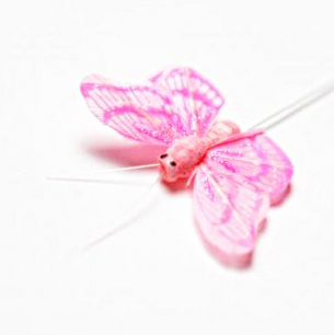 5.5см Бабочка декор розовый №3 (арт.2394-3)