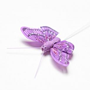 5.5см Бабочка декор фиолетовый №5 (арт.2394-5)
