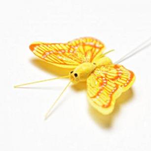 5.5см Бабочка декор желтый №6 (арт.2394-6)