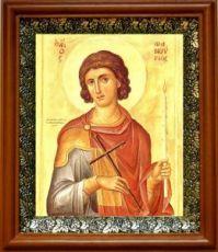 Фанурий Критский (Родоский) (19х22), светлый киот