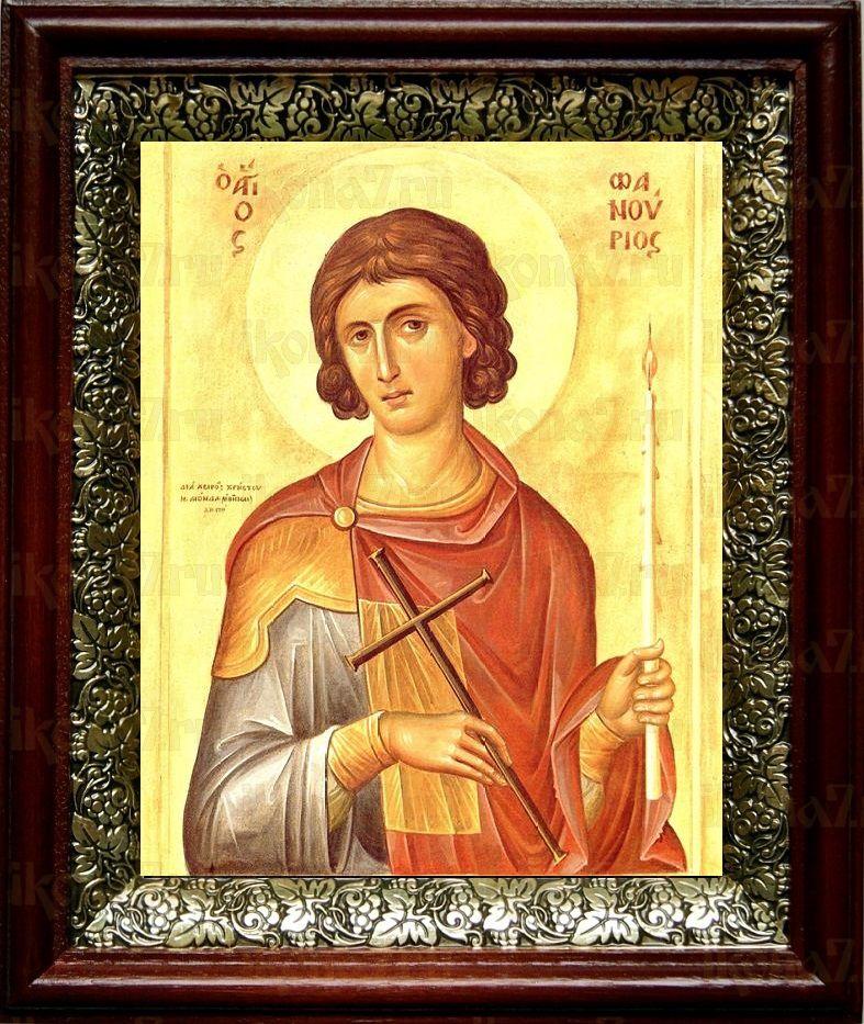 Фанурий Критский (Родоский) (19х22), темный киот