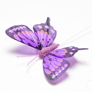 8см Бабочка декор фиолетовый №1 (арт.2395-1)
