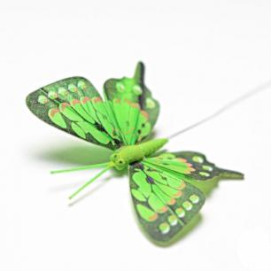 8см Бабочка декор зеленый №4  (арт.2395-4)