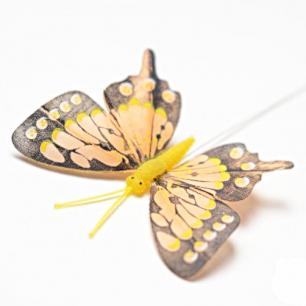 8см Бабочка декор бледно-оранжевый (арт.2395-6)