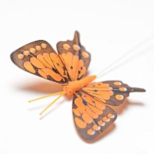 8см Бабочка декор оранжевый №5 (арт.2395-5)