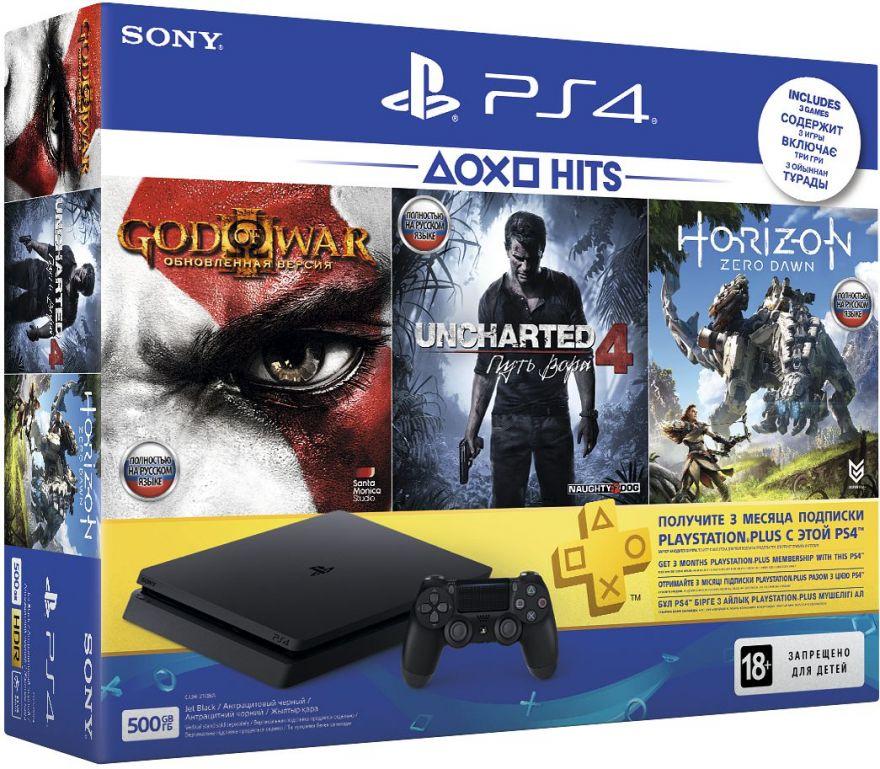 Игровая приставка Sony Playstation 4 Slim 500 ГБ (CUH-2108A) Без игр в комплекте