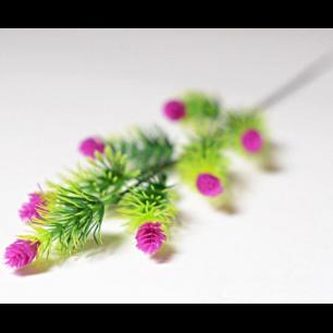 Ветка с цветами хмеля 7 голов (арт.1083-1) сиреневый