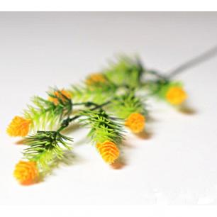 Ветка с цветами хмеля 7 голов (арт.1083-5) желтый
