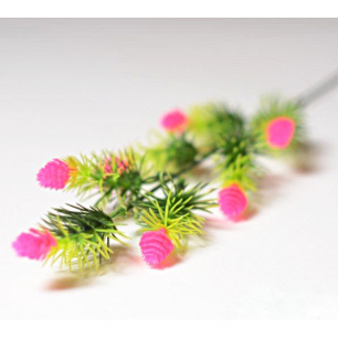 Ветка с цветами хмеля 7 голов (арт.1083-6) розовый