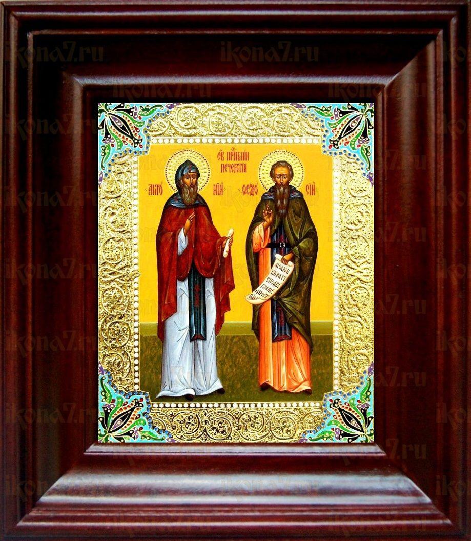 Феодосий и Антоний Печерские (21х24), простой киот