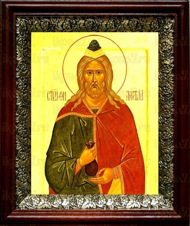 Филарет Милостивый (19х22), темный киот