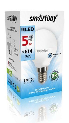 Светодиодная (LED) Лампа Smartbuy-P45-05W/4000/E14