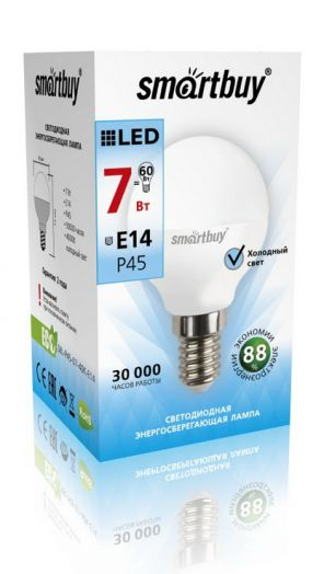 Светодиодная (LED) Лампа Smartbuy-P45-07W/4000/E14