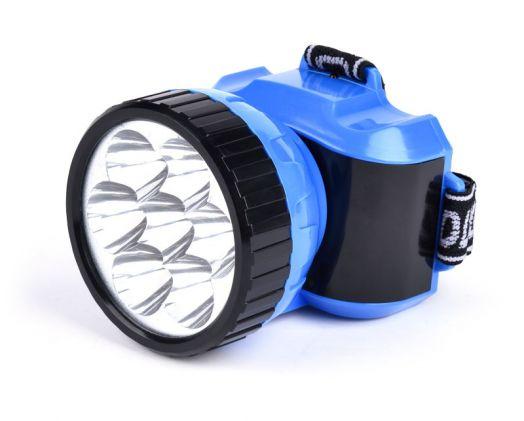 Аккумуляторный налобный фонарь 7 LED Smartbuy (синий)
