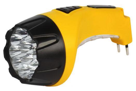 Аккумуляторный светодиодный фонарь 15+10 LED с прямой зарядкой Smartbuy