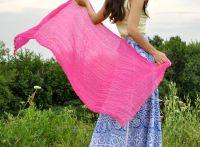 Женский шарф из натурального шёлка розового цвета Москва