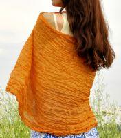 Женский шелковый шарф шафранового цвета Москва