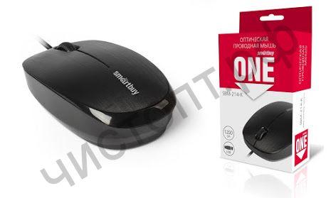Мышь провод.USB Smartbuy ONE 214-K черная (SBM-214-K)