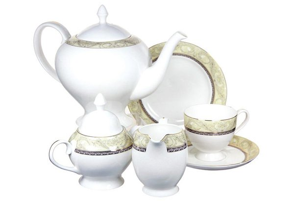 "Чайный сервиз на 6 персон ""Романтика"", 21 пр."