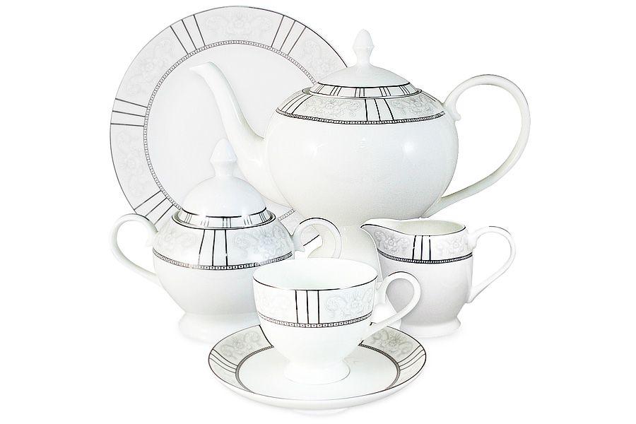 """Чайный сервиз на 6 персон """"Шенонсо"""", 21 пр."""