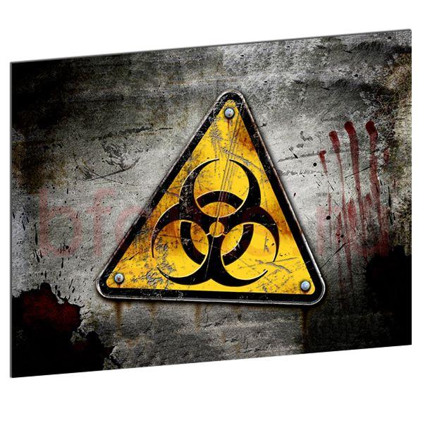 Табличка из металла Biohazard