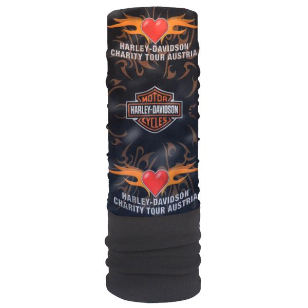 """Мультишарф с флисом """"Harley-Davidson"""" с сердцем"""