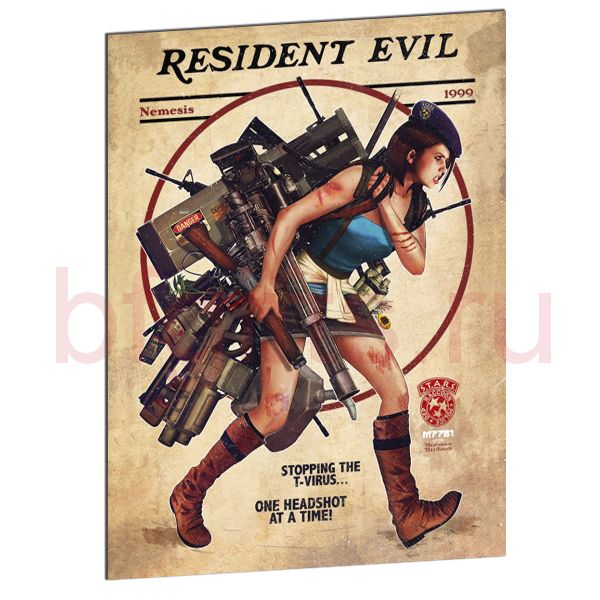 Табличка из металла Resident Evil