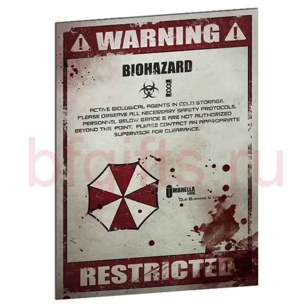 Табличка из металла Warning