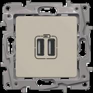 Розетка USB 2-ая Legrand Etika Сл.кость
