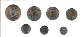 Набор монет Мексика 2017 (7 монет)