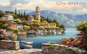 Картина по номерам Деревенская часовая башня KTL003