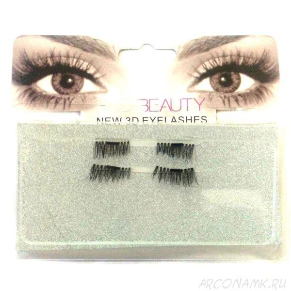 Магнитные накладные ресницы Huga Beauty New 3D Eyelashes с двумя магнитами