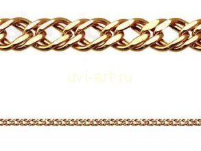 """Позолоченный браслет """"Двойной ромб"""", 8 мм (арт. 250126)"""