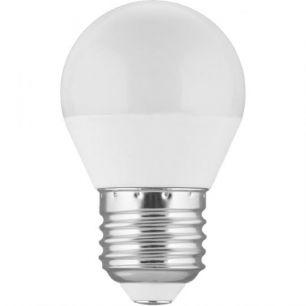 Лампа светодиодная LED 5Вт Е27 белый матовый шар