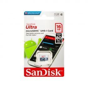Карта памяти Sandisk Ultra MicroSDHC 16GB Class 10  до 80MB/s