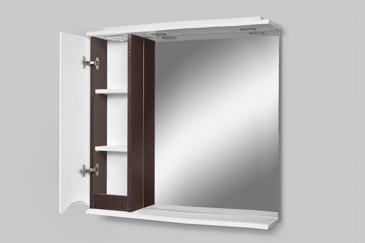 Зеркало-шкаф с подсветкой Am.Pm Like 80 (Лайк) 80х75 ФОТО