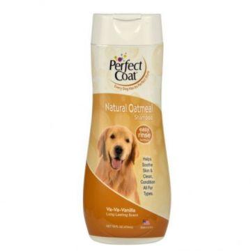 Шампунь с овсяной мукой,для собак, Natural Oatmeal Shampoo, 8in1/Perfect Coat, 473мл