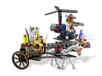 ЛЕГО 9462 скелет лошади тянет повозку возничий скорпион
