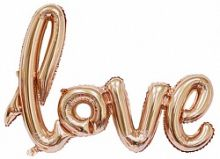"Надпись ""Love"", розовое золото, 41""/ 104 см, Китай"