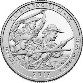 Нац.Исторический парк Дж.Кларка(Индиана) 25 центов США 2017 Монетный Двор на выбор