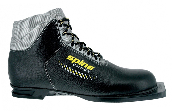 Лыжные ботинки (нат.кожа, мех) Spine Cross 75мм