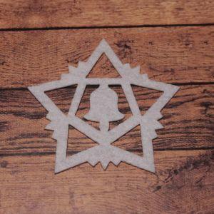 `Декоративный элемент из фетра 1мм, размер 70 мм (1уп = 5шт), Арт. Р-ФЗ0023