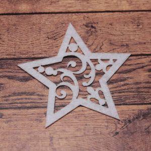 `Декоративный элемент из фетра 1мм, размер 70 мм (1уп = 5шт), Арт. Р-ФЗ0025