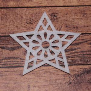 `Декоративный элемент из фетра 1мм, размер 70 мм (1уп = 5шт), Арт. Р-ФЗ0027