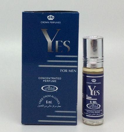 Арабские масляные духи Yes for men | 6 мл | Al-Rehab | Мужской