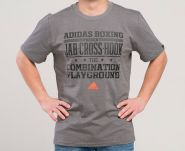 Футболка темно-серая Adidas  Graphic Tee Slogan Boxing ADISGT02