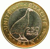Джибути 250 франков 2012 г.
