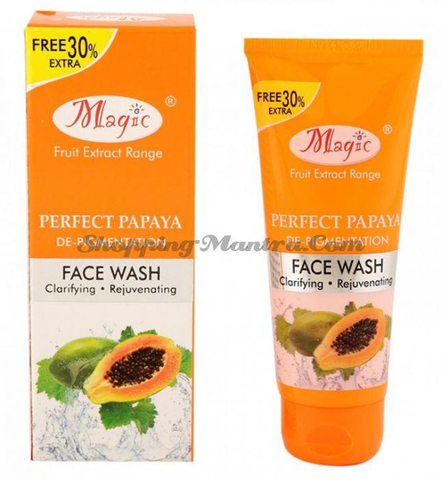Депигментирующее средство для умывания Папайя Меджик Аюрведа | Magic Ayurved Perfect Papaya Face Wash