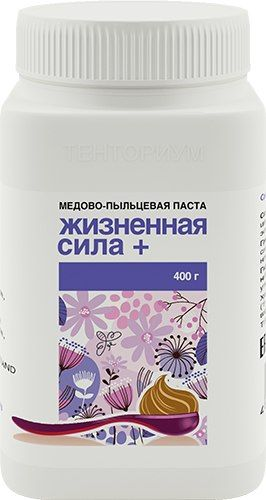 Медово-пыльцевая паста «Жизненная сила плюс», 400 г