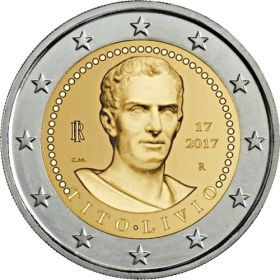 2000 лет со смерти Тита Ливия 2 евро Италия